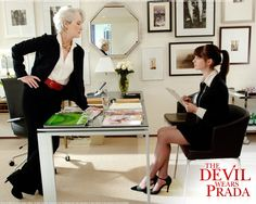 "The Devil Wears Prada. ""Florals? For spring? Groundbreaking."""