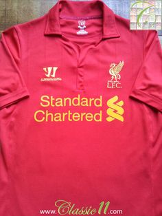 Relive Liverpool's 2012/2013 season with this vintage Warrior football shirt.