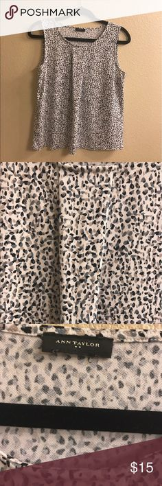 Speckled Ann Taylor blouse Sleeveless. Size small. I cut the tag off because it itches me. Ann Taylor Tops Blouses