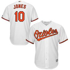 Majestic Adam Jones Baltimore Orioles White Official Cool Base Player Jersey
