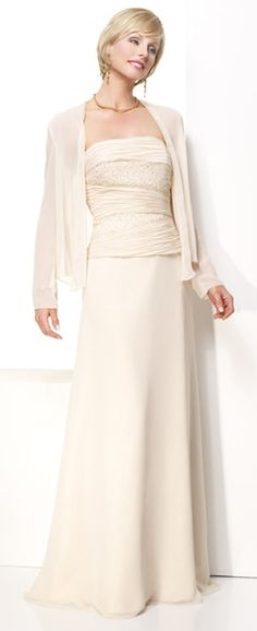 Two Piece Chiffon Floor Length Ruffles Young Spring Mother Of Brides Dress