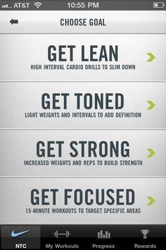 Nike Training Centre iPhone App