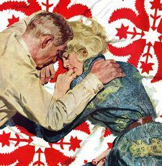 Illustration by Lynn Buckham. Illustration Story, American Illustration, Magazine Illustration, Couple Illustration, Vintage Romance, Vintage Love, Vintage Art, Romance Art, Pulp Fiction Art