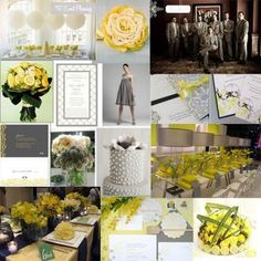 Wedding, Yellow, Inspiration, Board