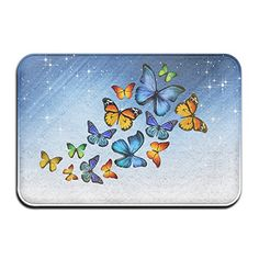 Mat Lab Mat Colorful Butterfly Non Slip Door Mat 40 CM X 60 CM *** Be sure to check out this awesome product.