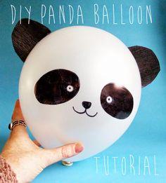 Sharpie Panda Balloon Tutorial by The DIY Fox - tons of cool Sharpie crafts! http://www.thediyfox.com/2014/02/pandaballoontutorial.html
