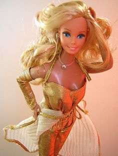 80's Golden Dream Barbie. I owned her!