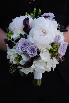 White and a hint of purple & lavendar