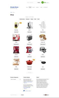 #Simple Store WordPress Simple eCommerce Theme