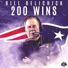 George Halas ✔ Don Shula ✔ Tom Landry ✔ Curly Lambeau ✔ Bill Belichick ✔  Patriots Coach Belichick is the 5th coach to have 200+ wins with one team.