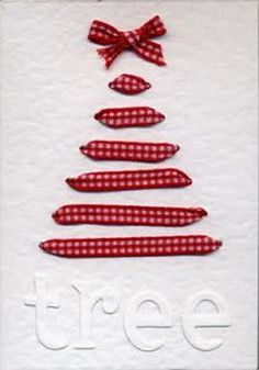 The Ribbon Christmas Tree Card 49 Awesome DIY Holiday Cards Diy Holiday Cards, Christmas Tree Cards, Noel Christmas, Diy Cards, Handmade Christmas, Christmas Decorations, Simple Christmas, Origami Christmas, Homemade Decorations