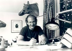 """Gary Larson (DOB: 8/14/50) - Cartoonist & creator of The Far Side ('76-'95), Gary was born/raised @ Tacoma, WA; played jazz on guitar. His family has """"a morbid sense of humor,"""" esp. bro. Dan who pulled countless pranks on Gary, but nurtured his love of scientific knwldg. After clg, he worked in a music store; hated it. In '76, he tried cartooning & was soon """"discovered"""" by the San Francisco Chronical which syndicated his work. A relaxed, understated man, Gary is an outspoken…"""