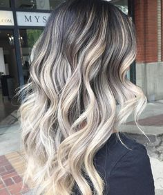 Black Hair With Ash Blonde Balayage
