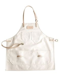 Natural Canvas and Leather Apron, perfect for painting, cooking, making | Andover Trask: