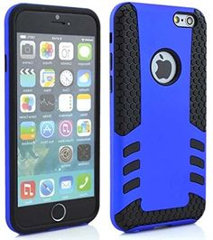 """myLife 2 Layer Neo Hybrid Bumper Case for iPhone 6 Plus (5.5"""" Inch) by Apple {Deep Blue + Black """"Rugged Clean Design"""" Two Piece SECURE-Fit Rubberized Gel} myLife Brand Products http://www.amazon.com/dp/B00P9PNZFI/ref=cm_sw_r_pi_dp_mp5yub18BWAB9"""