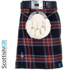 This is one of the most popular Scottish tartans in the world. Scottish Black Stewart Tartan Kilt is made from selected range of some of the Best Scottish tartans to offer you a quality garment at an excellent price but with no compromise in traditional quality. #TartanKilts #KiltsForMen
