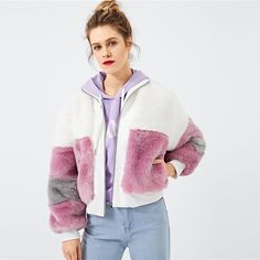To find out about the Zip Front Faux Fur Teddy Coat at SHEIN, part of our latest Jackets ready to shop online today! Faux Fur Jacket, Hooded Jacket, Rain Jacket, Teddy Coat, Lookbook, Streetwear, Coats For Women, Mantel, Zip Ups