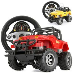 Katsuo 3512A Steering Wheel Remote Control Car Simulation 1:20 Jeep Sport…