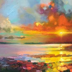 Scottish skyscape art painting, Scotland by Scottish Glasgow based skyscape artist Scott Naismith Abstract Landscape Painting, Landscape Art, Landscape Paintings, Abstract Art, Landscapes, Art Paintings, Landscape Design, Painting Inspiration, Cool Art