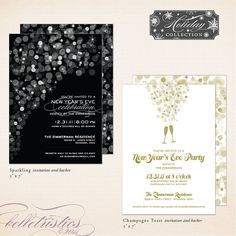 New Year's party invitations #DIY #printable #invitation