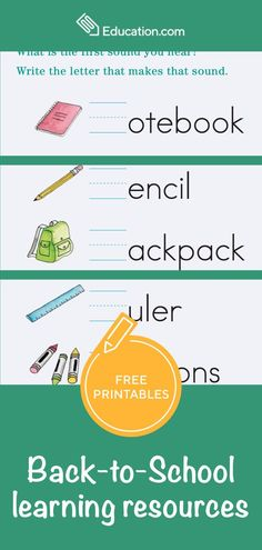 Summer break is filled with fun and sun, but it lacks in learning. Our back-to-school worksheets help students prepare for the next level of education while they enjoy the sunshine. Mix word searches and coloring pages into lazy days by the pool with back-to-school worksheets that your child will enjoy. When the time comes to rejoin the classroom, students will be prepared. Back To School Worksheets, Back To School Activities, Free Printable Worksheets, Free Printables, Alpha Dog, Enjoy The Sunshine, Lazy Days, Home Schooling, Get Excited