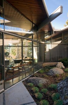mid-century home renovation Larry Pearson living exterior