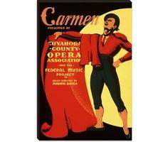 Carmen Opera Matador Vintage Poster