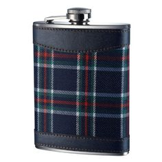 Hip Flask 8oz - Blue Tartan. Visit us now and ENJOY 10% OFF + FREE SHIPPING on all orders