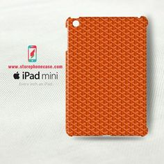 Goyard Paris Orange Pattern - iPad Mini Cover Case(3D)
