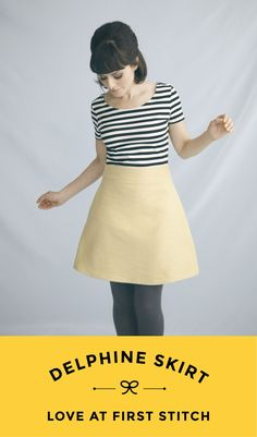 DELPHINE SKIRT Sewing pattern from Love at First Stitch