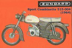 Zundapp 515 (1964) sport combinette Motorcycle. Triumph Motorcycles, European Motorcycles, Small Motorcycles, Vintage Motorcycles, Vespa Vintage, Vintage Bikes, Vintage Cars, Bike Poster, Motorcycle Posters