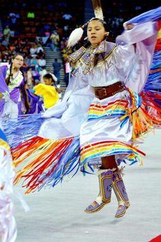 Fancy shawl Native American Dress, Native American Regalia, Native American Women, American Indian Art, Fancy Shawl Regalia, Powwow Regalia, Jingle Dress, Native Girls, Ribbon Skirts