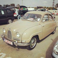 1957 Saab 93B De Luxe — in Bucharest, Romania.