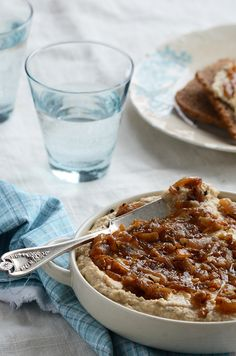Warm Caramelized Onion and Chickpea Spread.