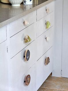 Get creative and have an assortment of different door knobs.