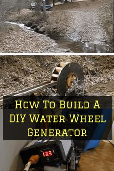 How To Build A DIY Water Wheel Generator - - If you have a running water source, you can build a water wheel generator, and generate free electricity They can largely be made from recycled parts. Off Grid Solar, Wind Of Change, Nikola Tesla, Diy Solar, Off The Grid, Survival Prepping, Survival Skills, Water Wheel Generator, Water Turbine Generator
