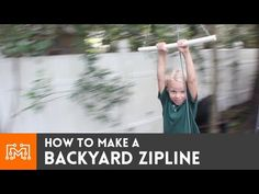 Turn these easy backyard projects into a family activity. Check out which furniture pieces you and the kids can make for the next DIY weekend! Diy Projects For Kids, Backyard Projects, Outdoor Projects, Backyard Ideas, Backyard Patio, Patio Ideas, Project Ideas, Diy Zipline, Backyard Zipline
