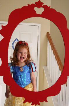 SNL Parties: A Snow White Birthday Party magic mirror Snow White Mirror, Snow White Birthday, Disney Princess Birthday, Cinderella Birthday, Rainbow Parties, Bday Girl, 3rd Birthday Parties, Birthday Ideas, Scenic Photography