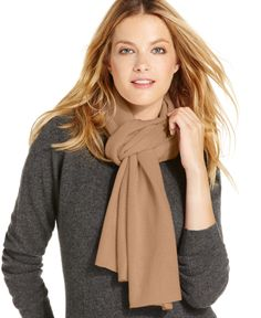 Charter Club Jersey Knit Cashmere Muffler, Only at Macy's