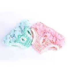 cool Female Puppy Pet Dog Pants Chiffon Pink Underwear Sanitary Nappy Diaper Short S