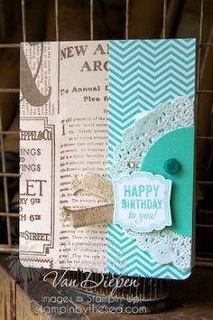 Label Love Stamp set & Soho Subway DSP Kimberly Van Diepen, Stampin' Up!