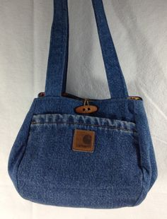Up cycled heavy duty denim hand/shoulder bag от NNY2ndTimeAround