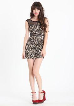 Leopard dress :}