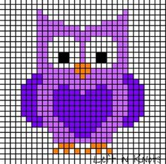 graphs perfect for Bobble, or your favorite grid crochet techniqueSimple graphs perfect for Bobble, or your favorite grid crochet technique Owls and Foxes and Coons-Oh My! Owl Perler Bead Pattern More Stitch Fiddle is an online crochet, . Cross Stitch Owl, Cross Stitch For Kids, Simple Cross Stitch, Cross Stitch Charts, Cross Stitch Designs, Cross Stitching, Cross Stitch Embroidery, Cross Stitch Patterns, Loom Patterns