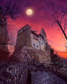 🧛🏻♂️🧛🏻♀️ Dracula's Castle, Bran, Romania 🇷🇴📍 Transylvania Castle, Transylvania Romania, Draculas Castle Romania, Monuments, Comte Dracula, Romanian Castles, Dracula Castle, Medieval, Romania Travel