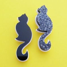 This cute cat brooch comes in plain black or black and silver glitter acrylic on a white acrylic background. Perfect for cat ladies (or cat men! Please state at checkout which colour you would like: black or black glitter. Brooch is. Glitter Acrylics, White Acrylics, Crazy Cat Lady, Crazy Cats, Fairy Cakes, Silver Cat, Plain Black, Black Glitter, I Love Cats