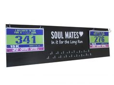 Valentine gift for running partner. Display all you race bib and medals all in one place in a stylish manner. Only $46.99 huge size 31 inches long. You can chose from various design as well!