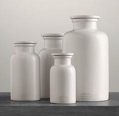 Bathroom Accessories Restoration Hardware clear glass pharmacy bottles | restoration hardware | residence