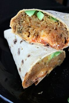Spaghetti Squash and Avocado Burrito