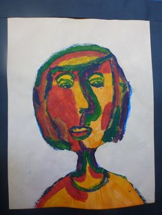 Portraits Using Warm & Cool Colours to Create Value Years 5 & 6